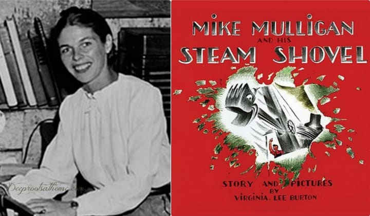 Virginia Lee Burton, Fabulous Children's Books Author. Virginia Lee Burton and her book Mike Mulligan and His Steam Engine