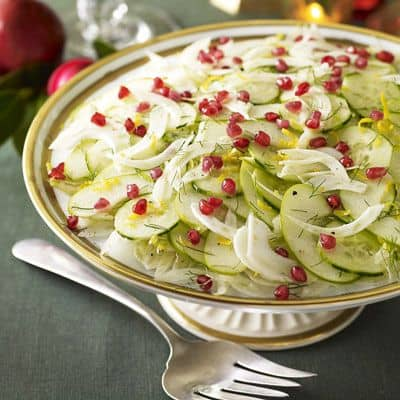 Cucumber-Pomegranate Salad {Good Housekeeping}