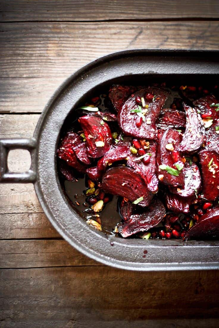 Moroccan Roasted Beets with Pome Seeds {Feasting At Home}
