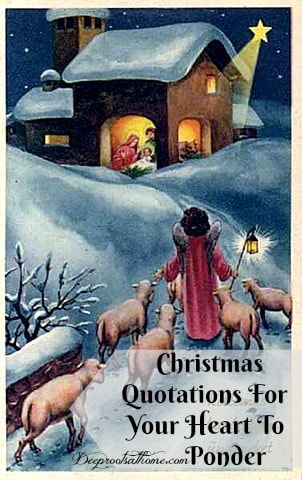 Profound Christmas Quotations For Your Heart To Ponder. vintage Christmas artwork