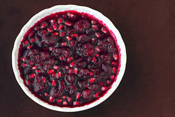 29 Festive Pomegranate Recipes & De-Seeding Video. Cranberry-Pomegranate Sauce {Gimme Some Oven}