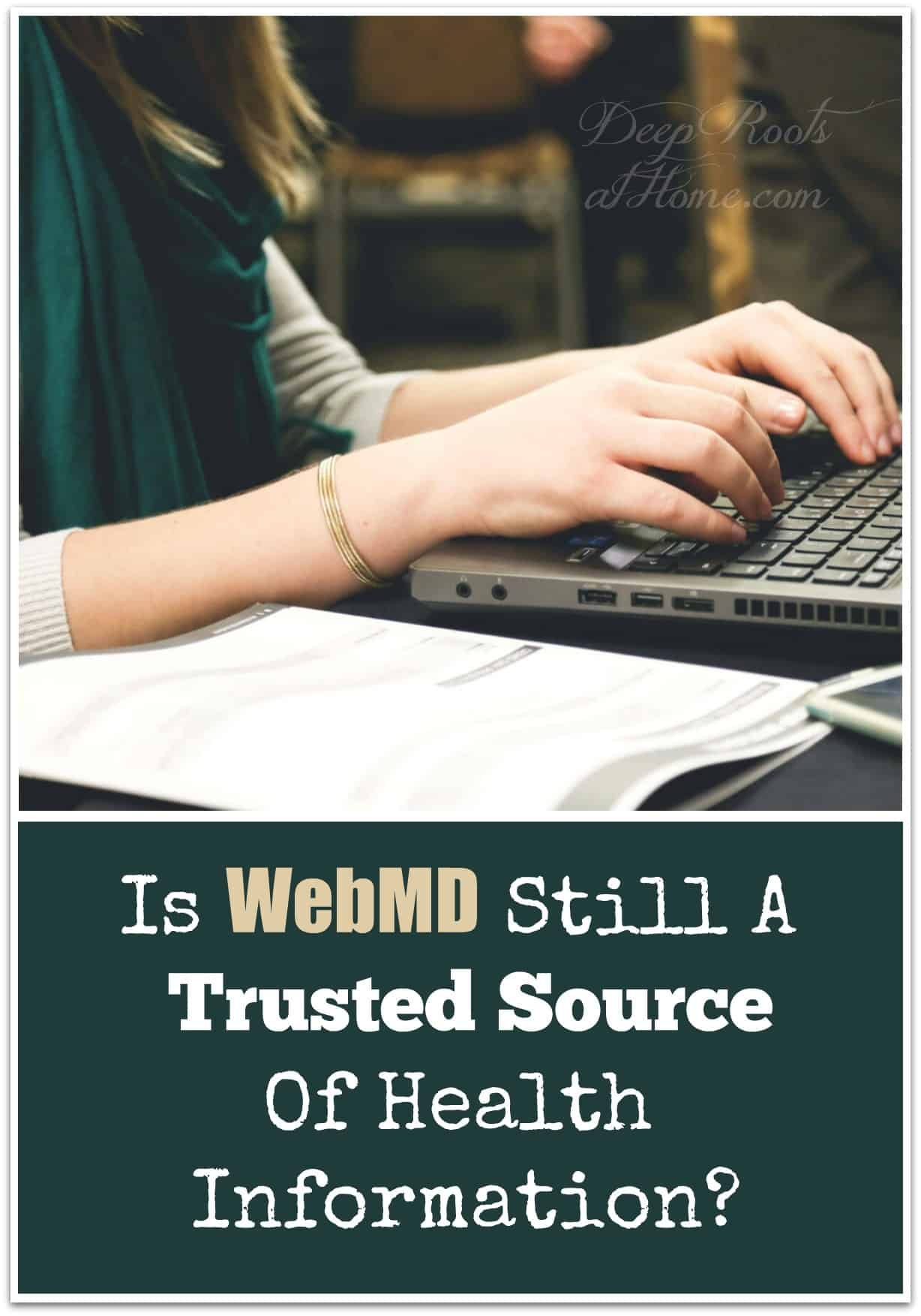 Is WebMD Still A Trusted Source Of Health Information? A woman sitting at a computer typing as she researches health information.
