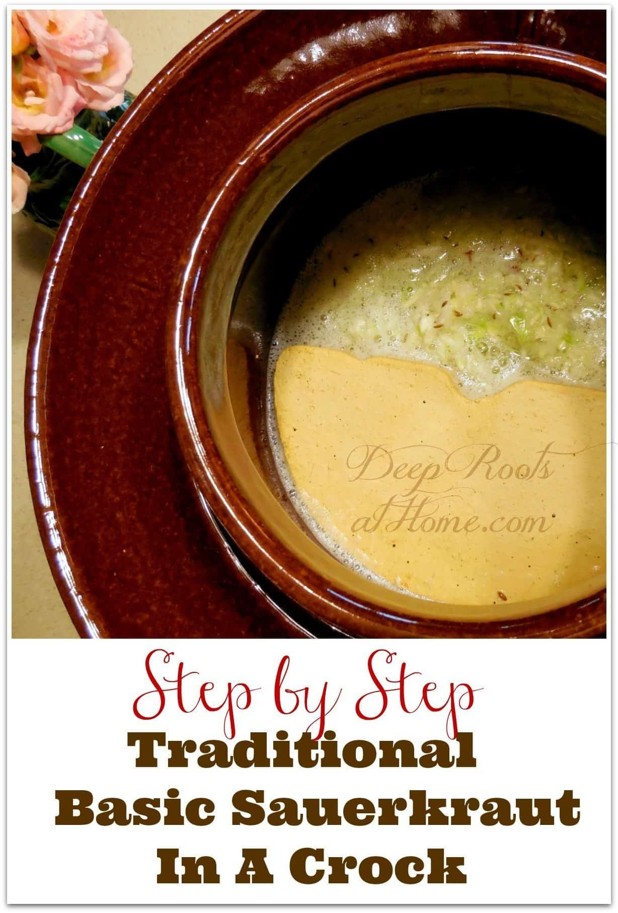 Step-by-Step Process Of Making Sauerkraut In a Crock,