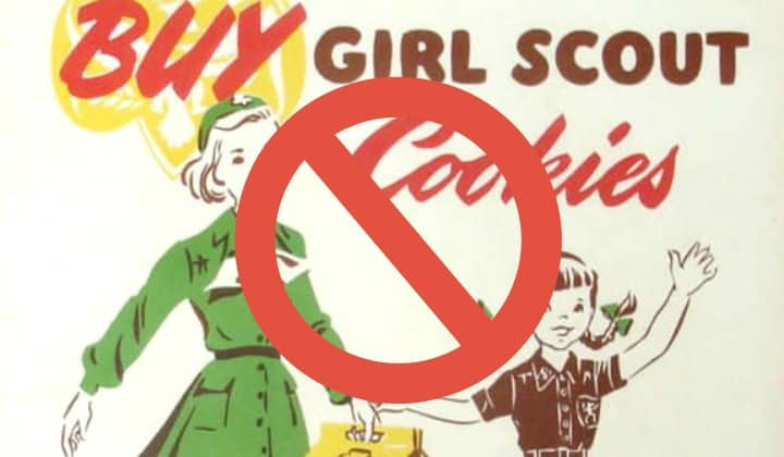 Girl Scouts Exposed: Who's Really Behind Girl Scout Cookies. girl scout cookies ad