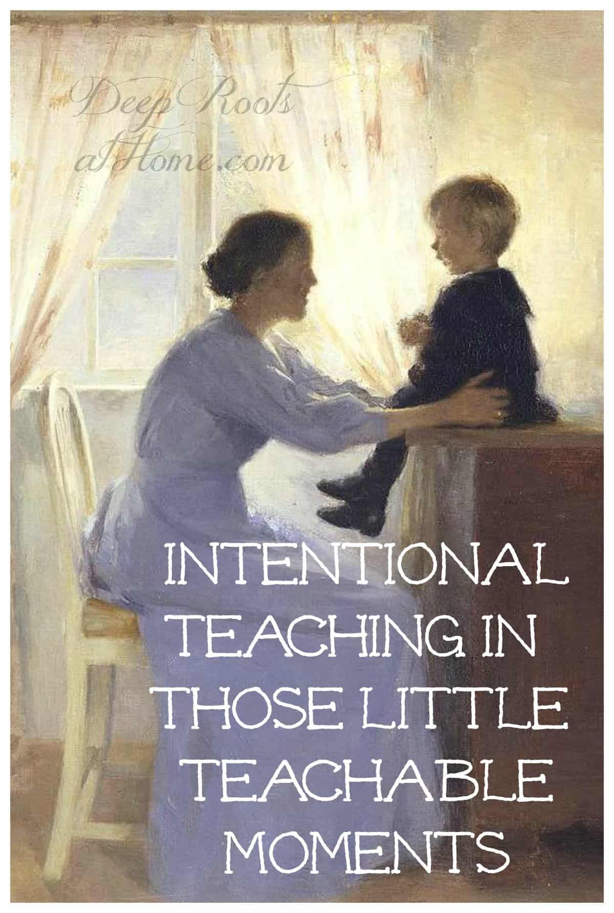 Intentional Teaching In Those Little Teachable Moments. 'Mother and Child' by Peter Ilsted