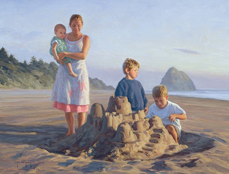 Titus 2 Advice To Mothers In Painting & Quotes. Painting: Our Castle by Robert Duncan