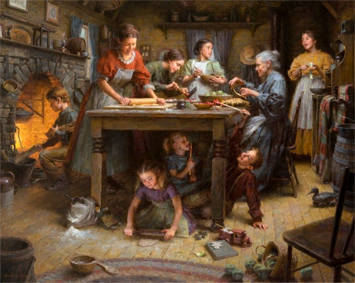 Painting: Family Traditions by Morgan Weistling
