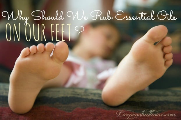 What Does It Mean To Apply Essential Oils Neat? a child's feet