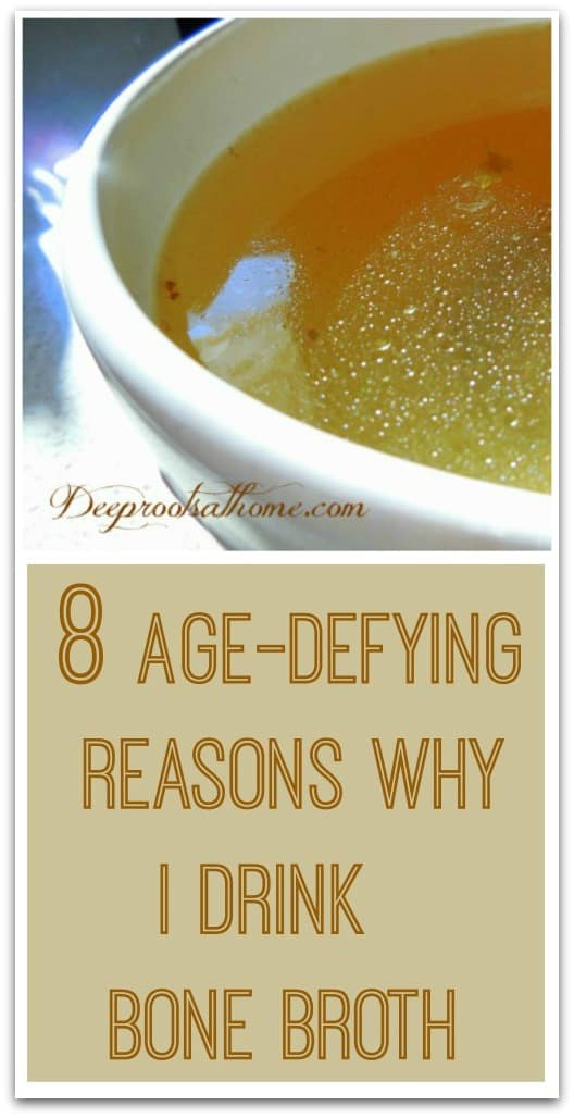 8 Age-Defying Reasons Why I Drink Bone Broth. Organic chicken broth in a bowl