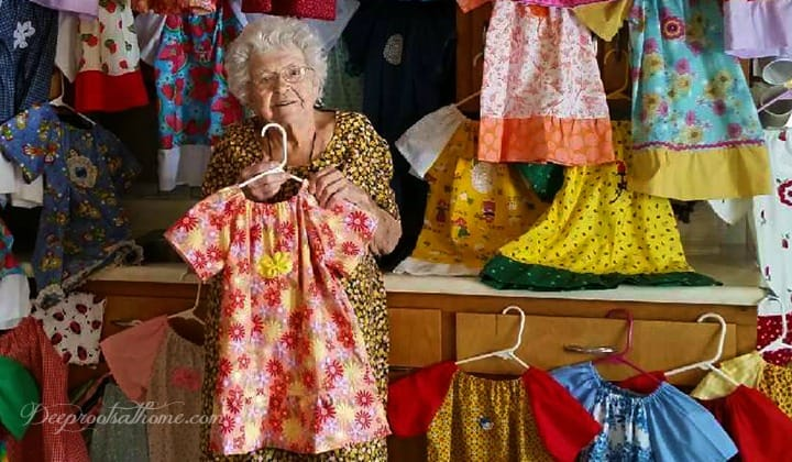 The Beautiful Reason Why 99-Year-Old Lillian Weber Is Not Retired, needy children, poor, ministry, pretty dresses, missional living, dedication, DIY, handmade, homemade, simple, easy, donate, sewing pattern, charity, Rachel O'Neill, stop abduction, stop abuse, 100th birthday, celebration, Little Dresses For Africa, sit in front of the TV, depression, selfishness, nonprofit 501c3, Christian, love, retirement, retiring, re-treading, centenarian, Lillian Weber, nursing home, aging, service, humanitarian, do unto others, Malawi, Africa, Brennan Manning, Abba's Child, book, quotes, shipping fund, role model, make a difference, sewing, pillowcase dress pattern, directions,