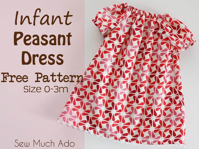 Lillian Weber's Basic Peasant Dress Pattern To Celebrate her 100th Birthday!, DIY, handmade, homemade, tutorial, toddler, 2T, 3T, 4T, sizes, infant, short sleeves, simple, easy, sewing pattern, directions, Free,
