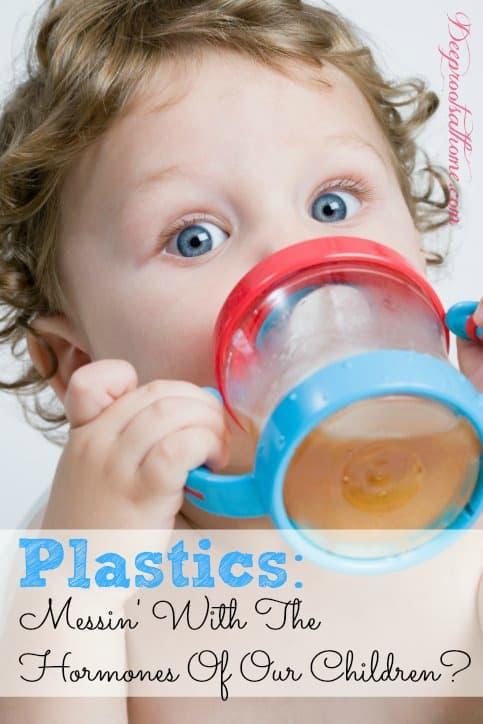 Plastics Messin' With The Hormones Of Our Children? child with sippy cup