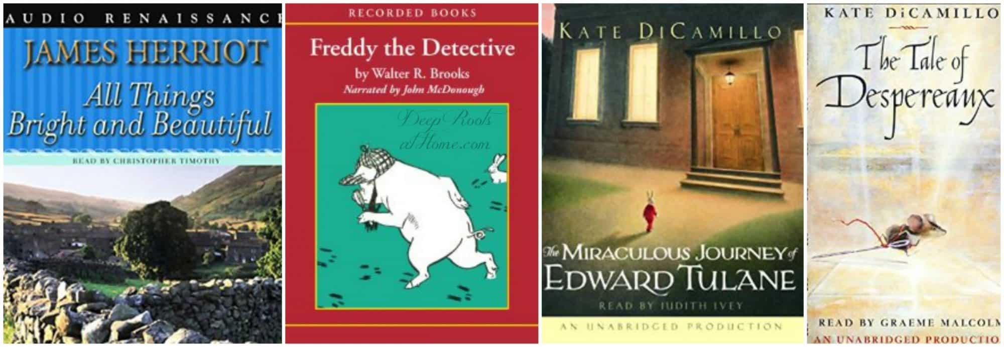 4 audiobooks including The Miraculous Journey of Edward Tulane, Kate DiCamillo