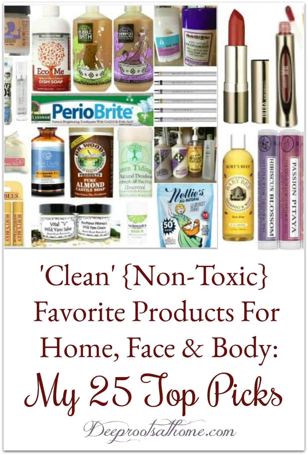 My top 25 favorite non-toxic personal products