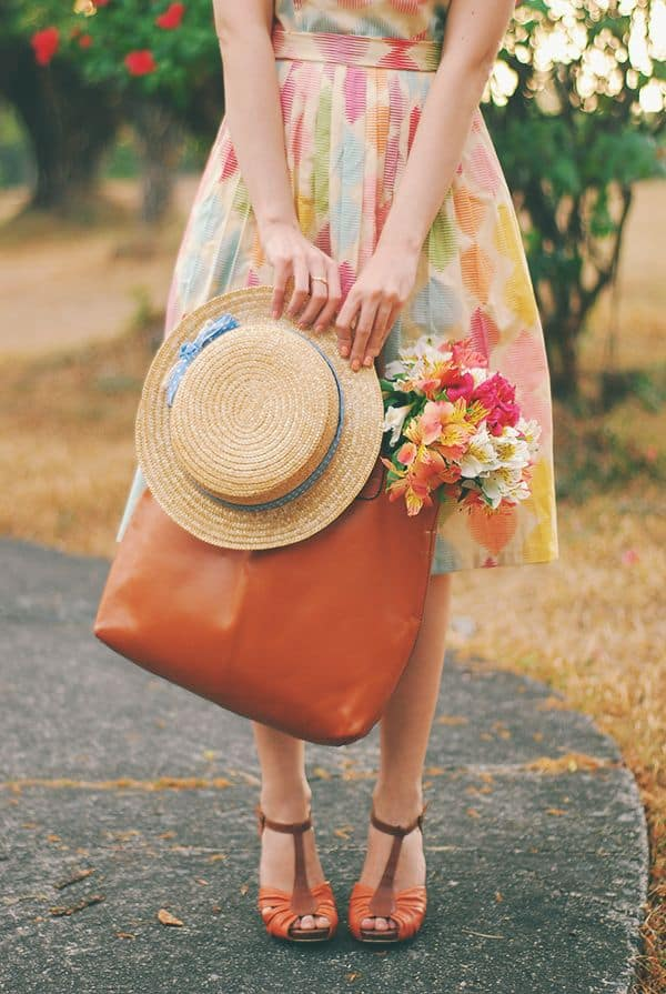 25 Classic Ladylike Looks For You: Spring Heading Into Summer. A colorful summer dress