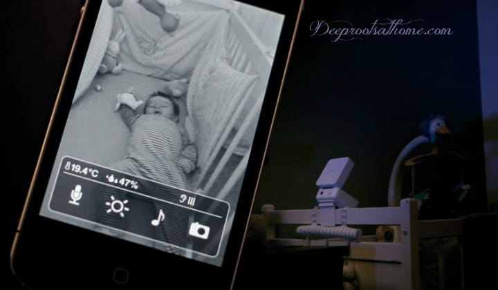 Get the Digital Baby Monitor OUT of the Nursery! A baby monitor with a crib camera and motion sensor.