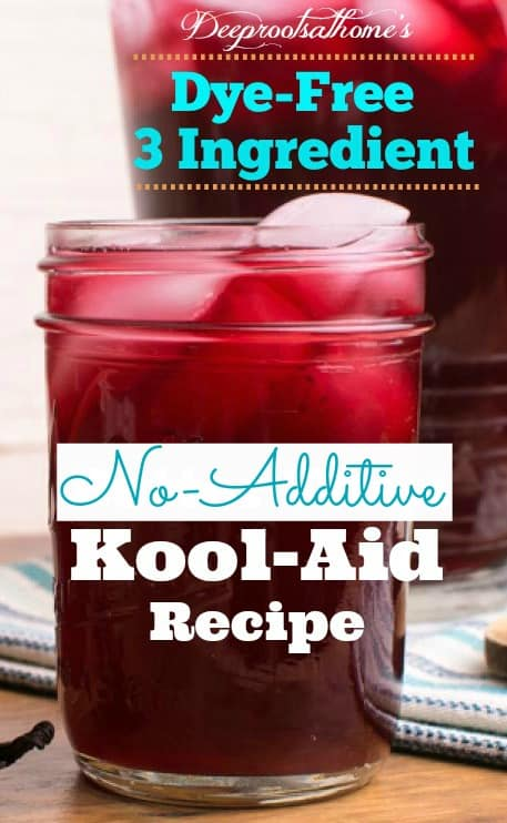 No Additive Kool-Aid Recipe: Kid-Approved, Happy Mom. A cold glass of ruby red Kool-Aid with ice