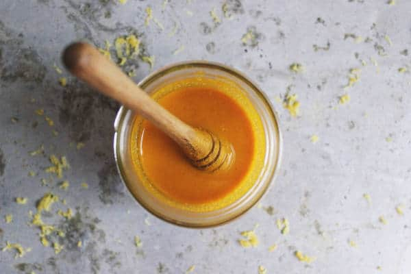 Turmeric paste made with just water.