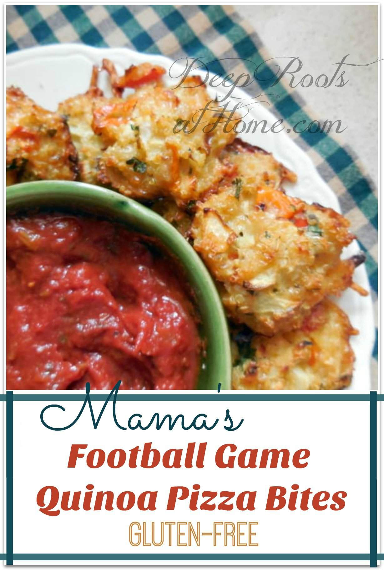 Mama's Football Game Quinoa Pizza Bites: Quick & Gluten-Free. My little pizza snacks