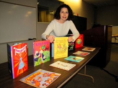 What Awaits In Public Schools Thru Children's Books. Leslea Newman books promoting her book, Heather Has Two Mommies,