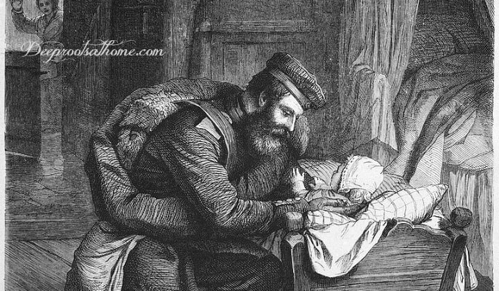 Are Our Men Really At Home? Some Definitely Are. But Some Are Not. A daddy greeting his child in the cradle