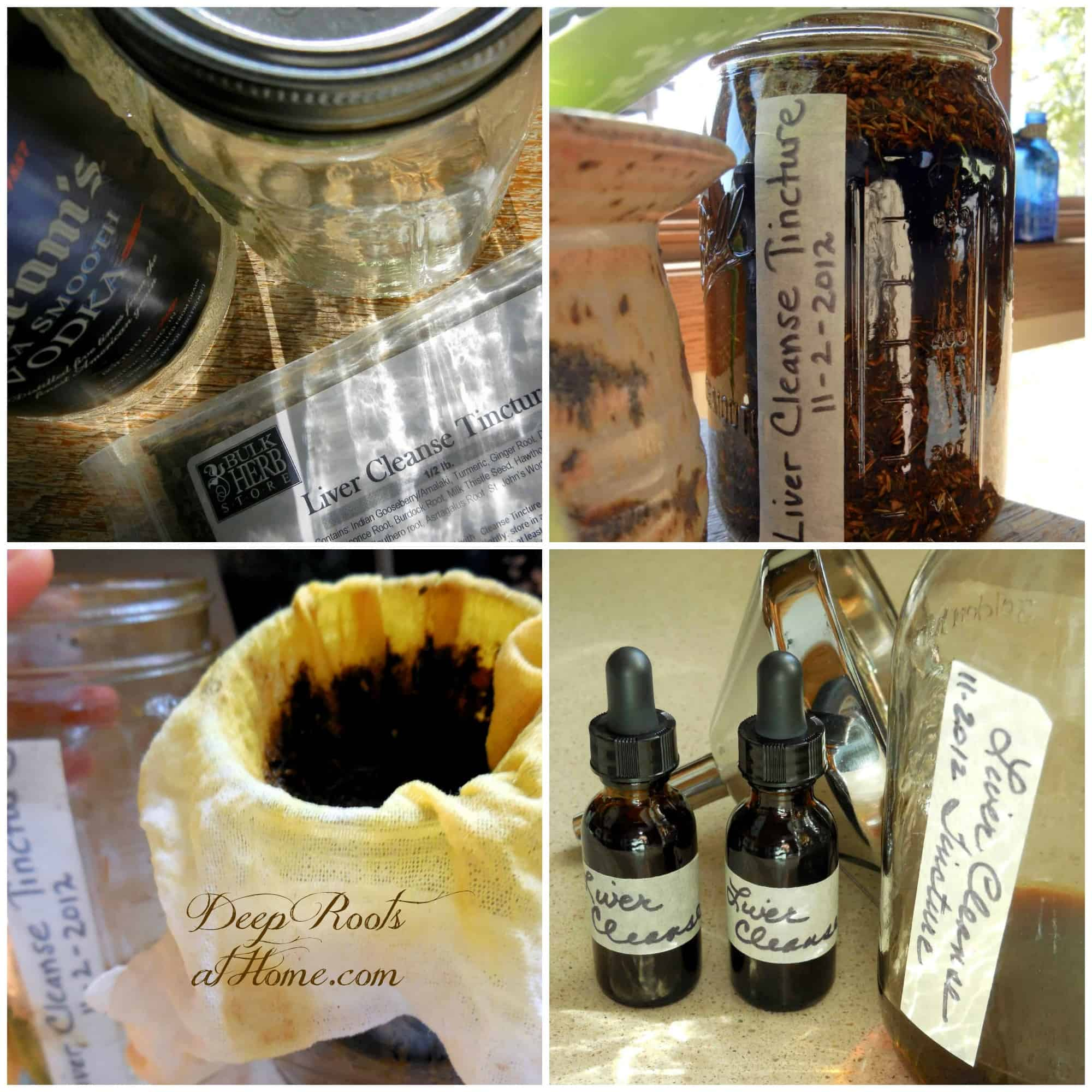 Steps for making tinctures