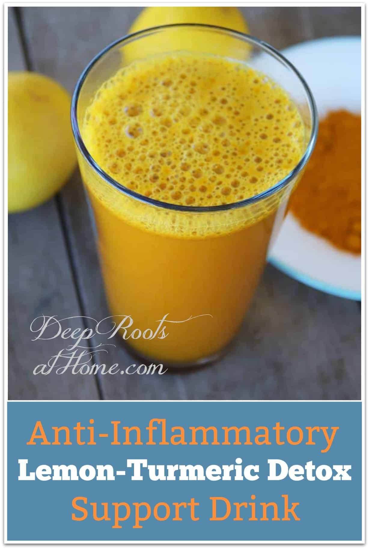 Anti-Inflammatory Lemon-Turmeric Detox Support Drink. A post-workout turmeric lemonade