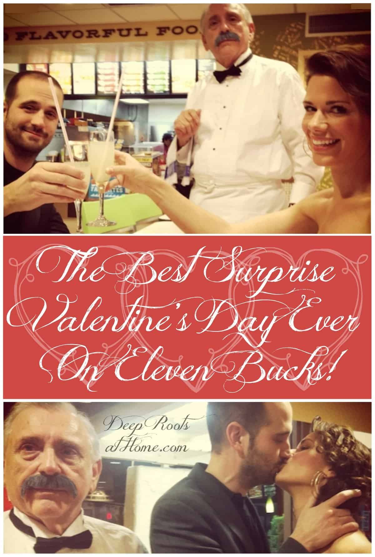 The Best Surprise Valentine's Day Ever On Eleven Bucks!, Kristina Kuzmic and husband surprise