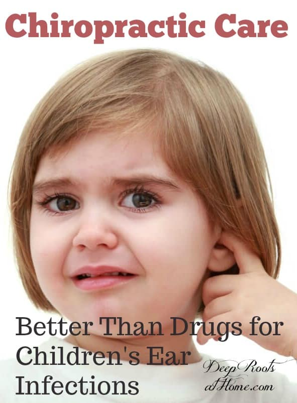 Chiropractic Found Better Than Drugs for Children's Ear Infections, Pinterest image. Girl with earache