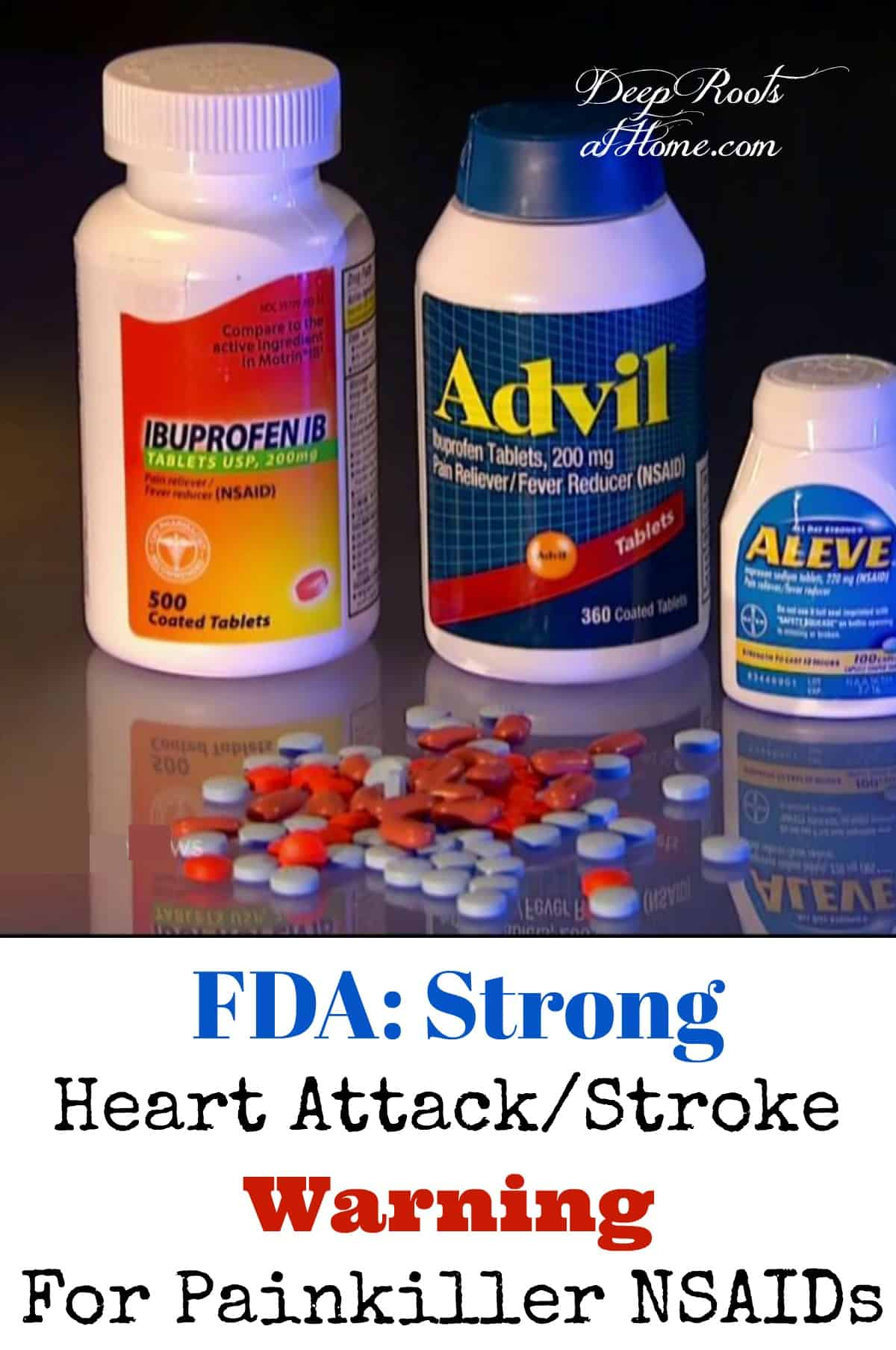 FDA: Strong Heart Attack/Stroke Warning For Painkiller NSAIDs.