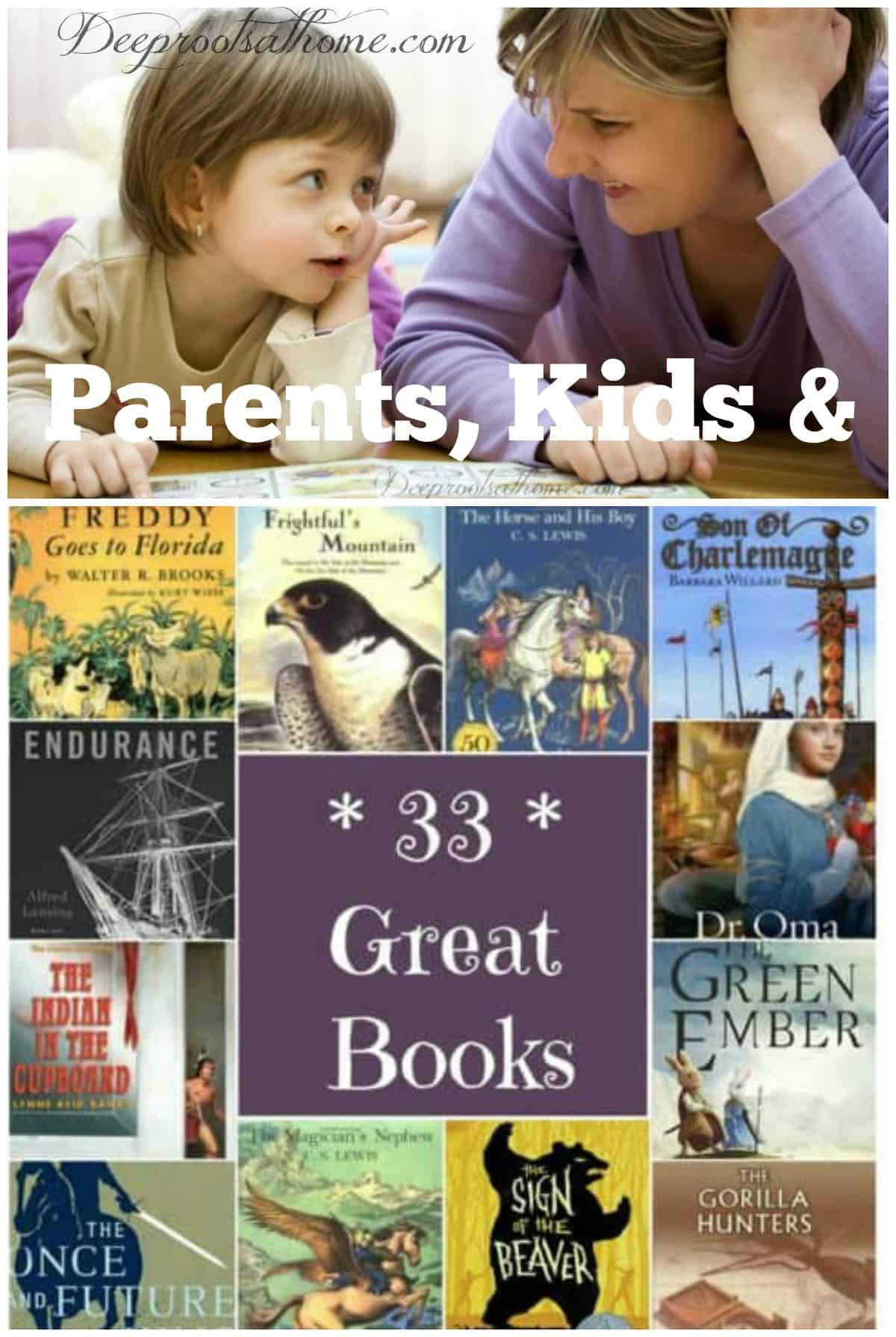 Parents, Kids, Great Books & The Bond Of Reading. A mom and tiny daughter talking together as they read a book.