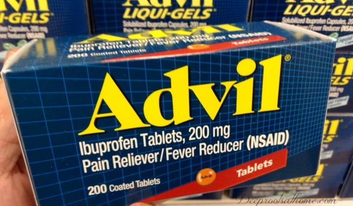 box of NSAIDs Advil
