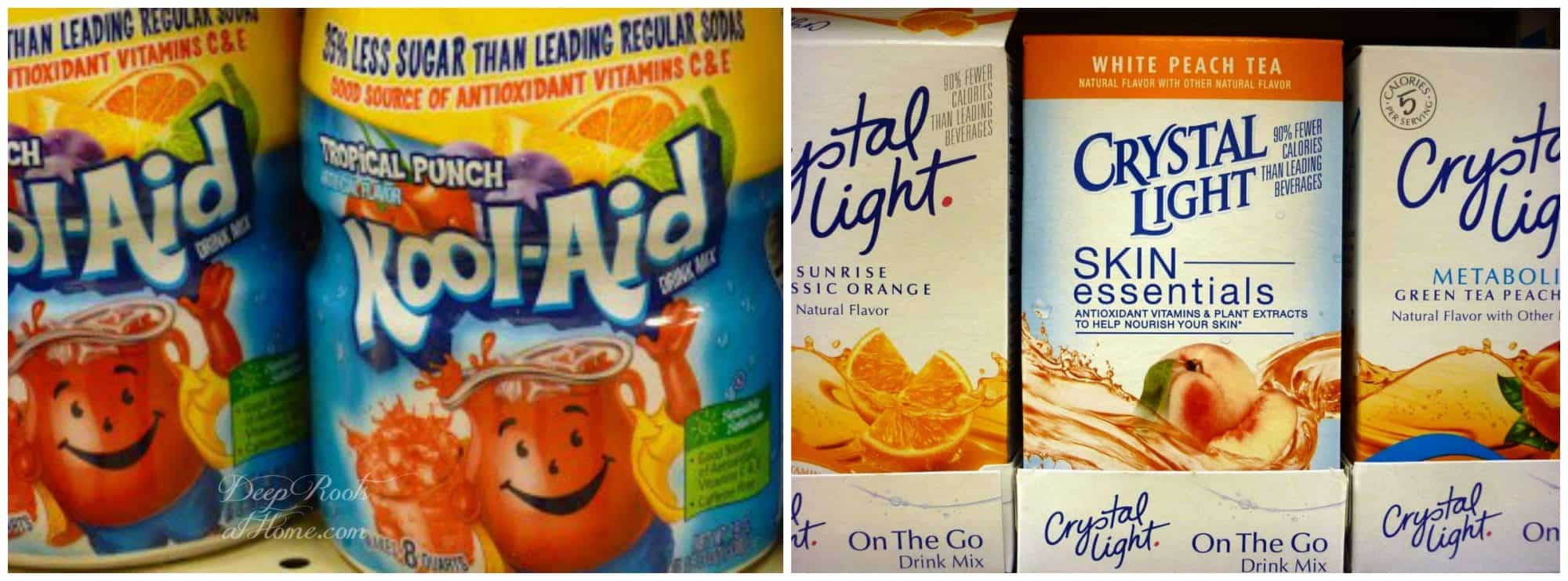 Kool-Aid punch and Crystal Light