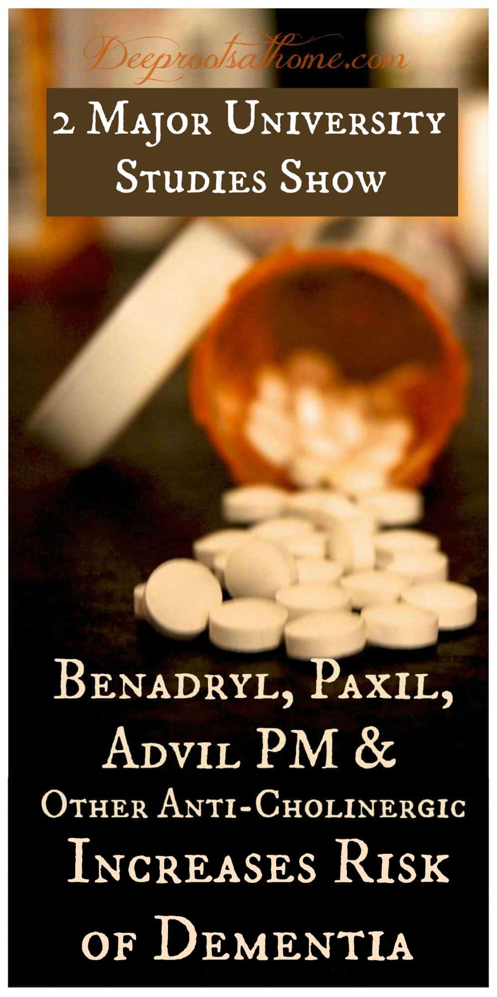 Benadryl, Paxil, Advil PM & Other OTC Drugs Linked to Dementia?