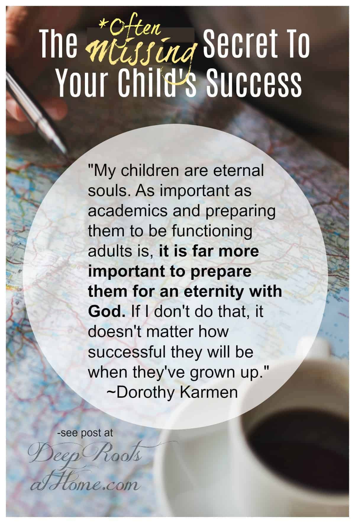 Designing a road map for the most important kind of success for our children. Pin image