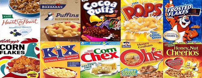 Glyphosate In Breakfast Foods Your Family May Eat. Popular GMO cereals