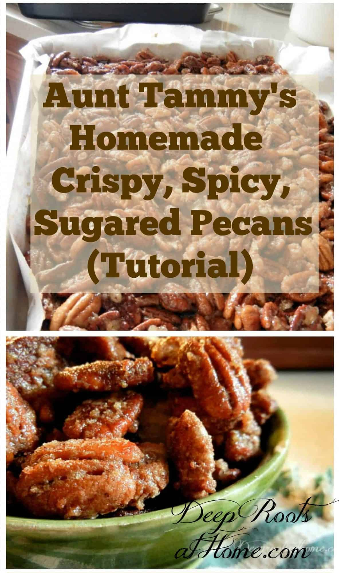 Aunt Tammy's Homemade Sugared Pecans. Tammy's candied pecans