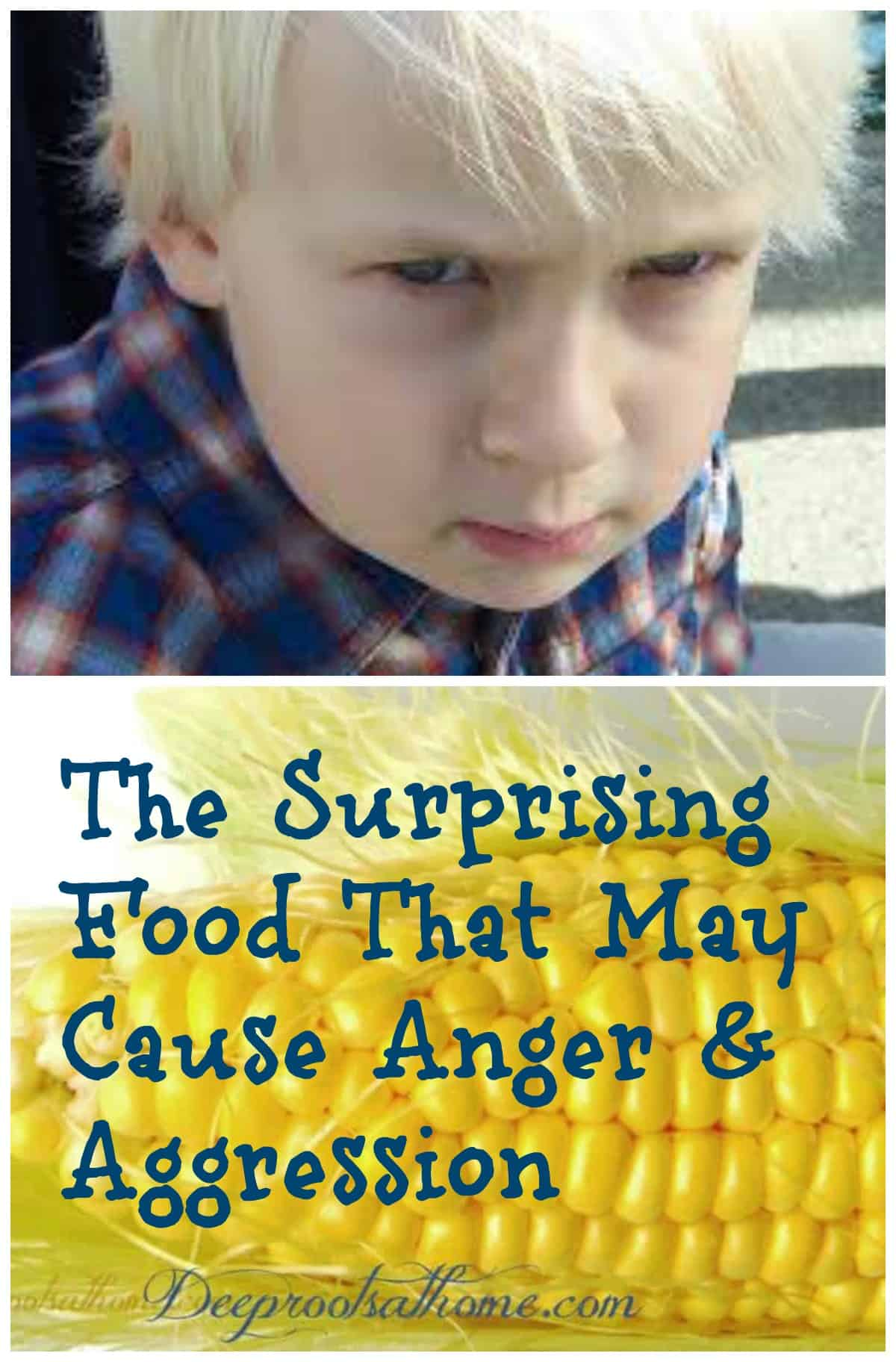 The Surprising Food That May Cause Anger & Aggression. Pinterest image of a very angry, defiant little boy