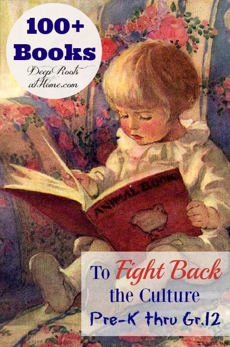 100+ Books To Fight Back the Culture: Preschool - Grade 12, Jessie Willcox Smith watercolor painting of a little girl reading a beautiful red book