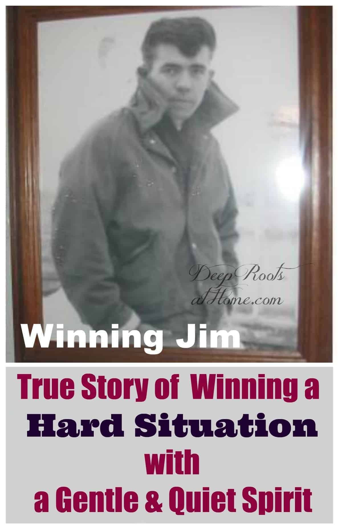 True Story of Winning a Hard Situation by a Gentle & Quiet Spirit. Jim Hultquist as rebellious young man before he went to prison.