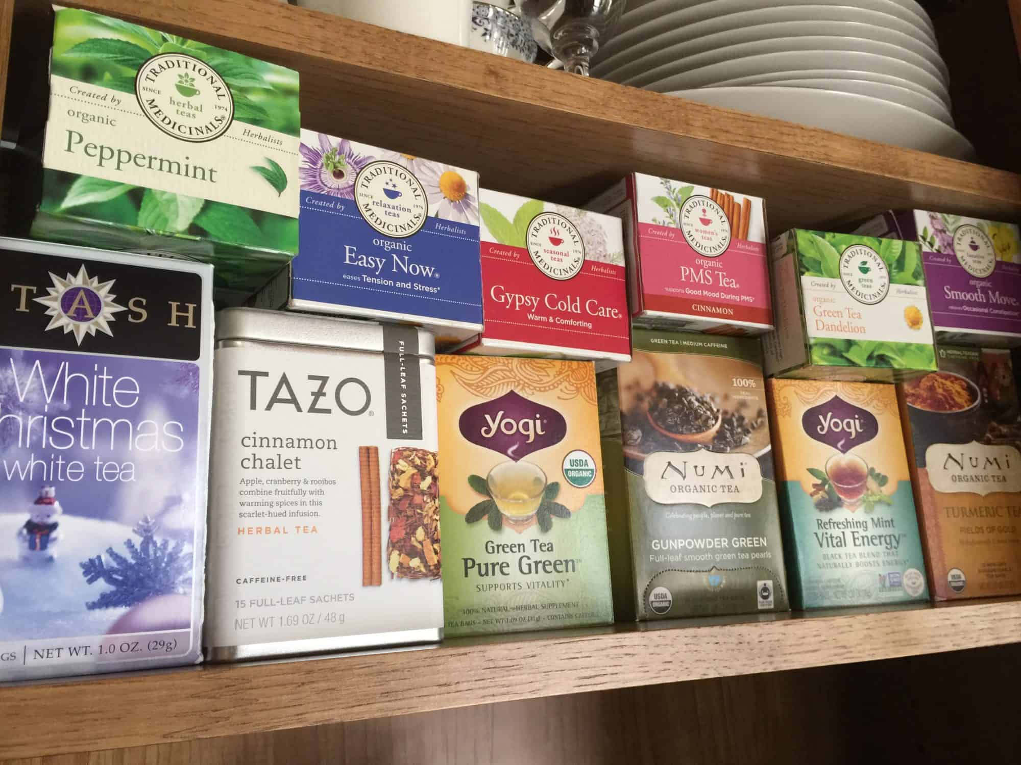 Chemicals and Pesticides Found In Popular Tea Brands & Tea Bags, Celestial Seasonings, Teavana, Tazo, Trader Joe's, Twinings of London, Lipton, Bigelow, Red Rose, teas in my kitchen