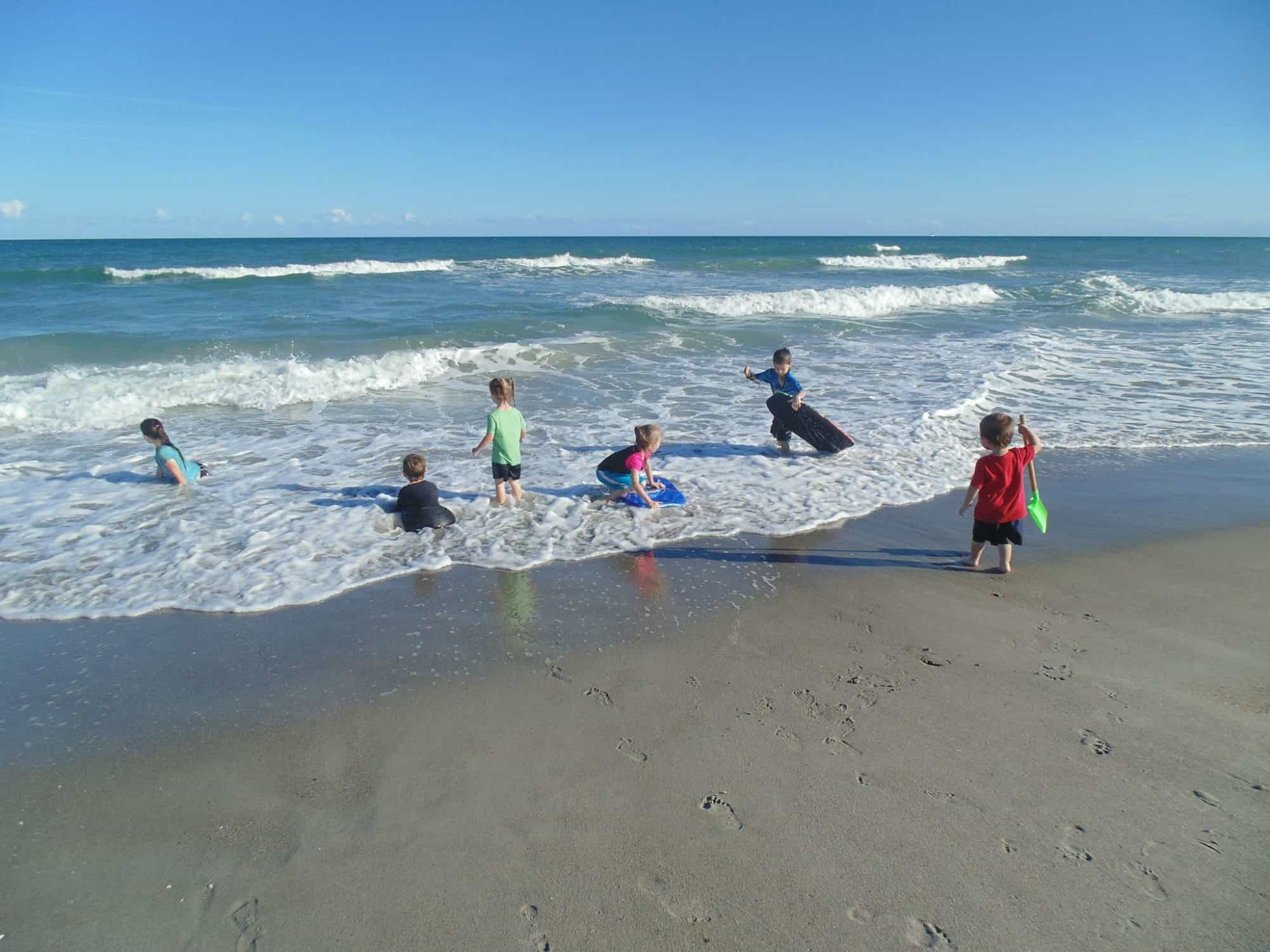One Busy Homeschooling Mom's Way To Stay On Top Of Meals With K.I.S.S. A day at the beach with the kids