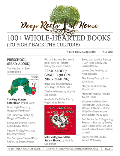 Parenting deep roots at home 100 wholehearted books fandeluxe Choice Image