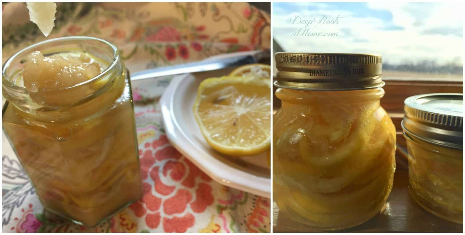 Making the infusion of honeyed lemons