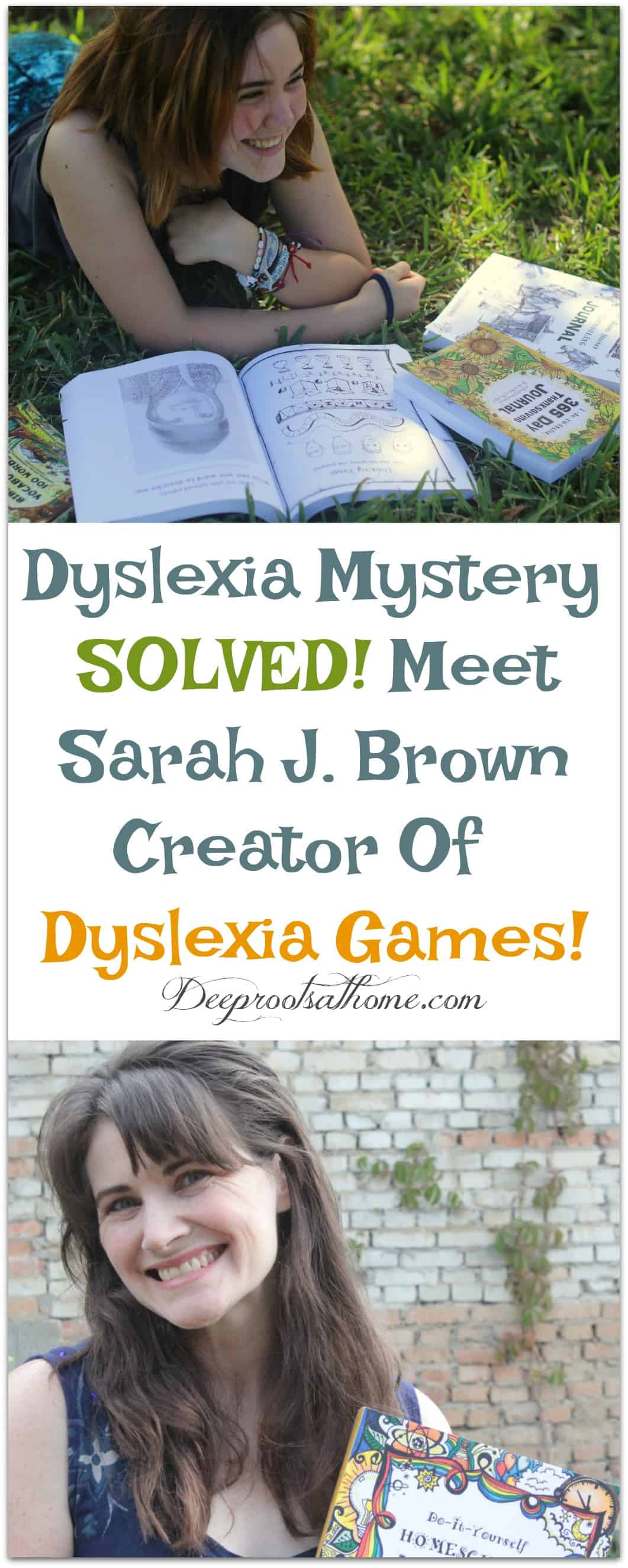 Dyslexia Mystery SOLVED! Meet Sarah J. Brown Creator Of Dyslexia Games! Thousands of children around the globe use Dyslexia Games with a 99% satisfaction rate. #homeschool #kids #parenting #happy #school  #children  #mentalhealth #books #business #childhood #dyslexia #schoolsupplies #brainteasers