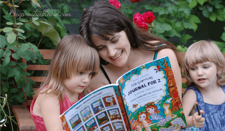Mother of child with dyslexia reading