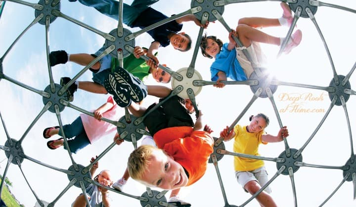 Parents! Increase Recess Time & Put Attention/Vitality Back In the Kids! Children playing on a jungle gym