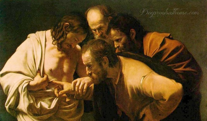 Resurrection Effect: How It Changed the Disciple's Lives & the World. The apostles examining Jesus' wound.