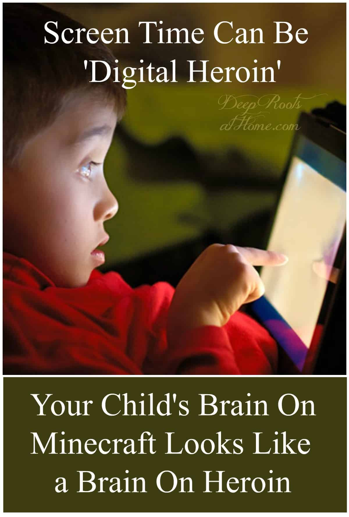 Screen Time, Digital Drug: Brain Images Show It's As Addictive As Opioids. A young child totally focused on his iPad,