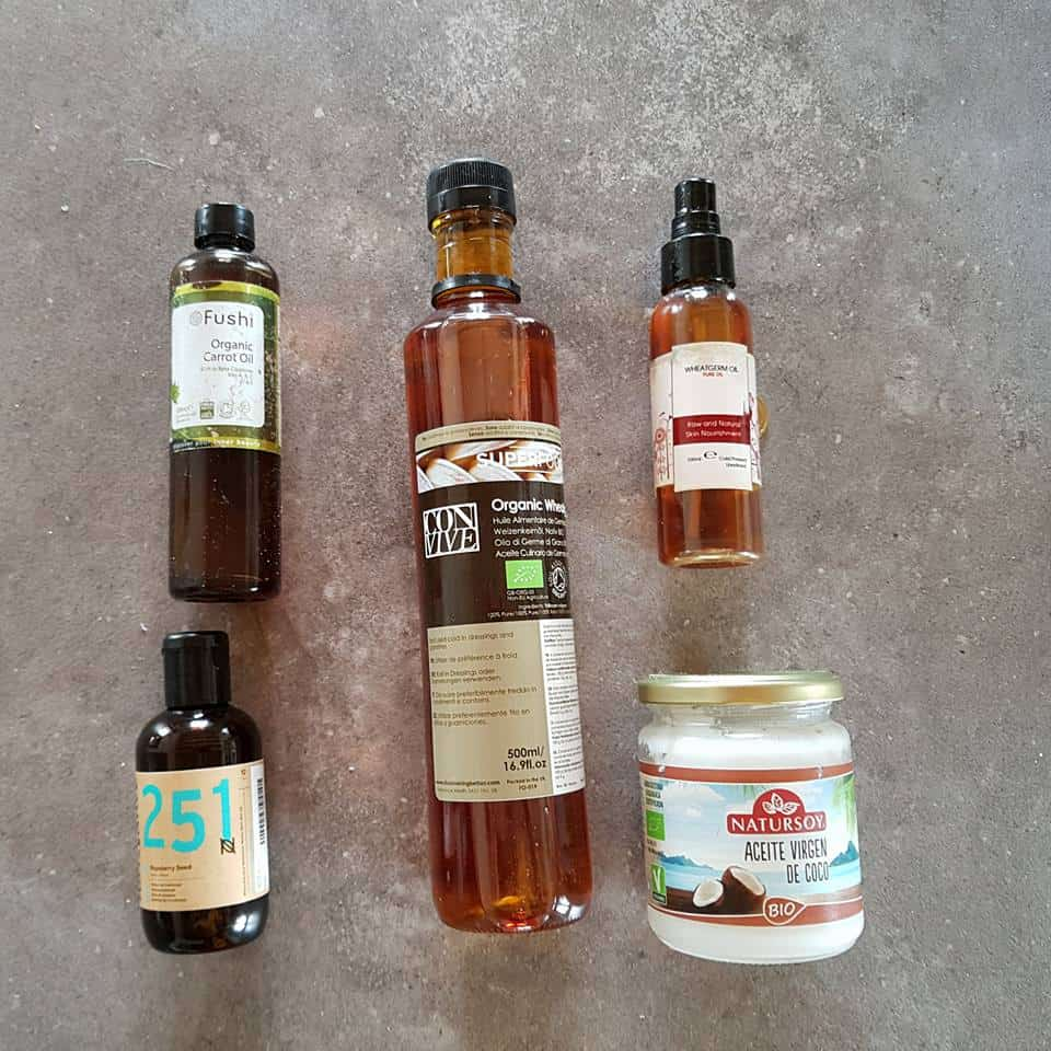 5 different brands of natural oils